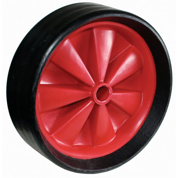 Solid rubber puncture proof wheel 28cm// Massive punkter fri hjul 28cm