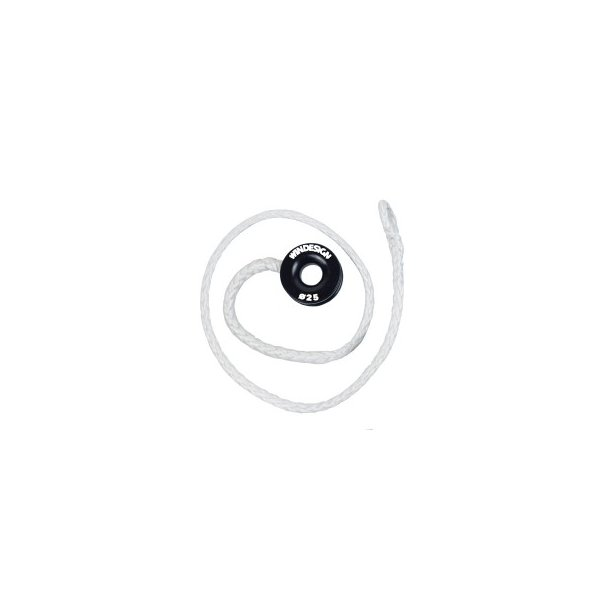 HALYARD LINE WITH LOW FRICTION RING