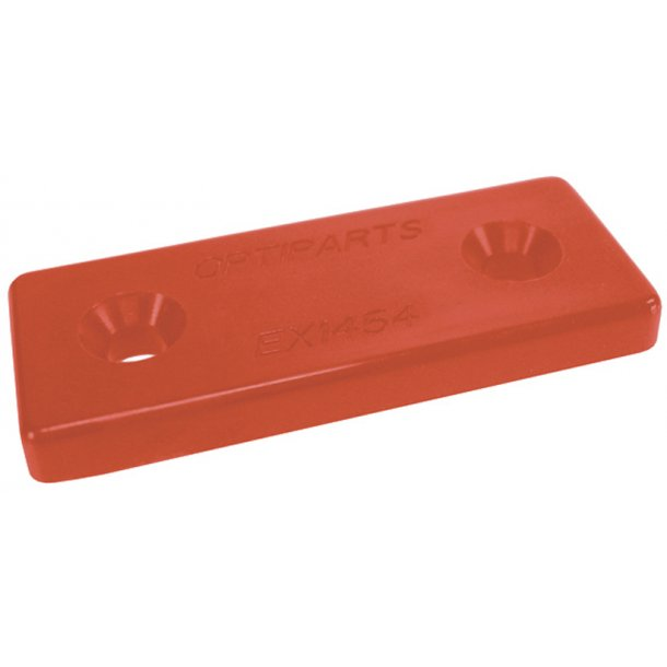 NYLON MOUNTING PLATE  RED  10 PACK