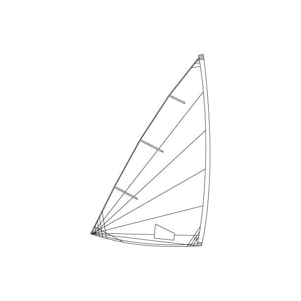 Optiparts training/school sail for radial laser/ Trænings/skole sejl til Laser radial