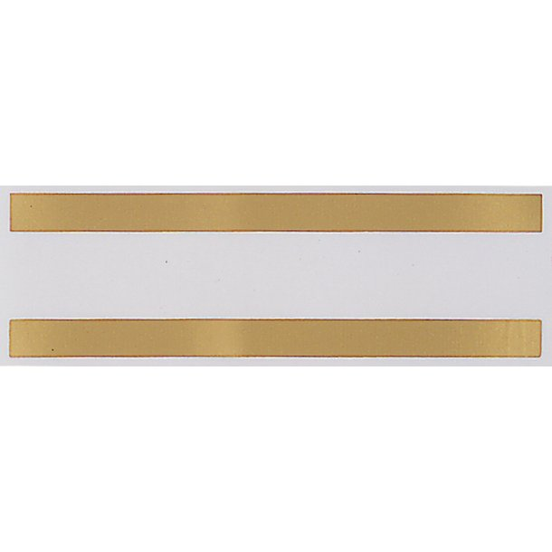 Measurement band sticker / Mastbånd gold