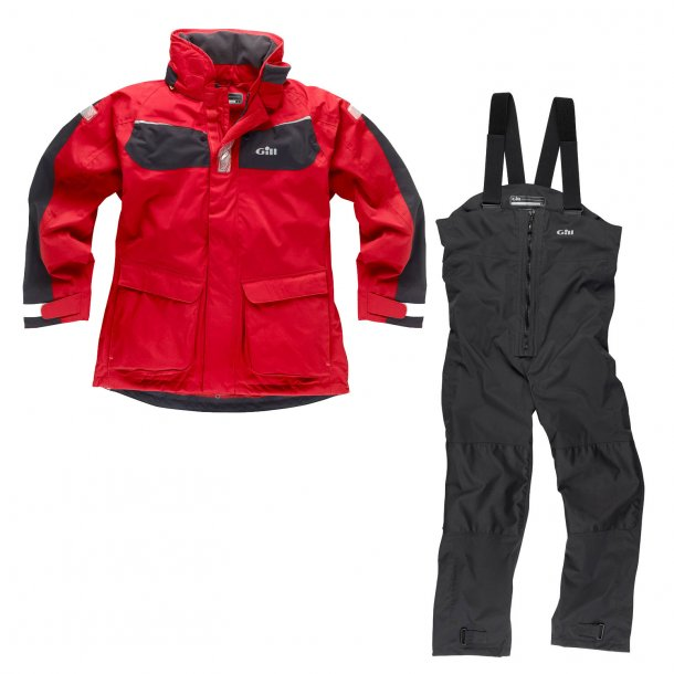 Gill Coast jacket and trousers red/graphite