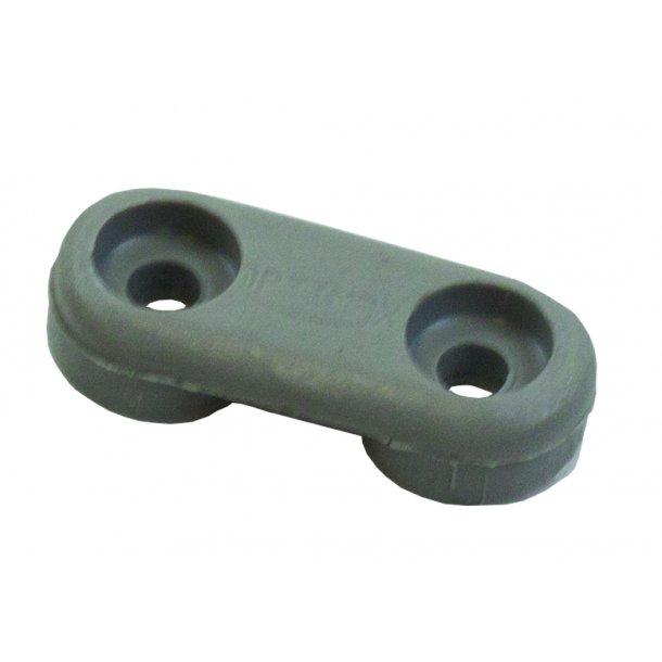 Lacing eye grey incl rivets