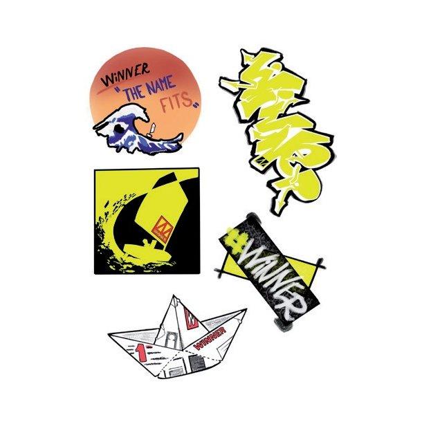 Winner Logo Sticker Sheet