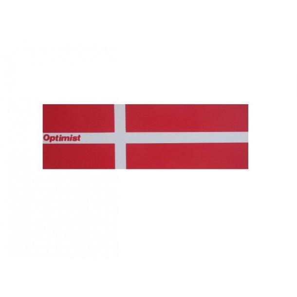 Danish flag for opti, sticker/ Flag (klistermærke) til båd